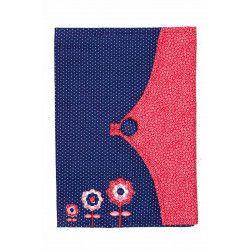 Protège carnet de santé fille tissu original Lily