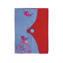 Protège carnet de santé fille tissu original Piou Piou