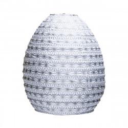 Lampion tissu ruche Asanoha argent