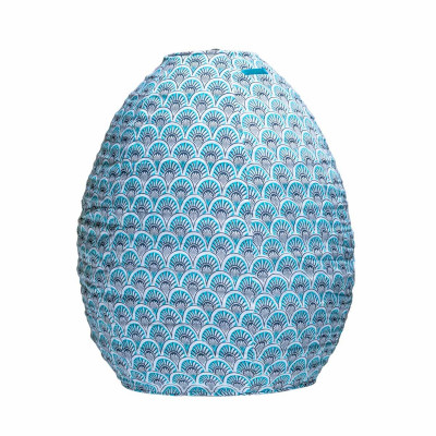 Lampion tissu ruche Blue sunrise