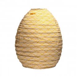 Lampion tissu ruche Nami moutarde