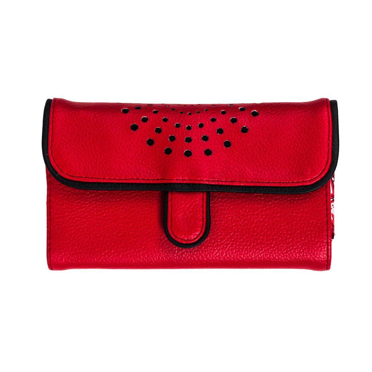 Portefeuille femme original Api rouge