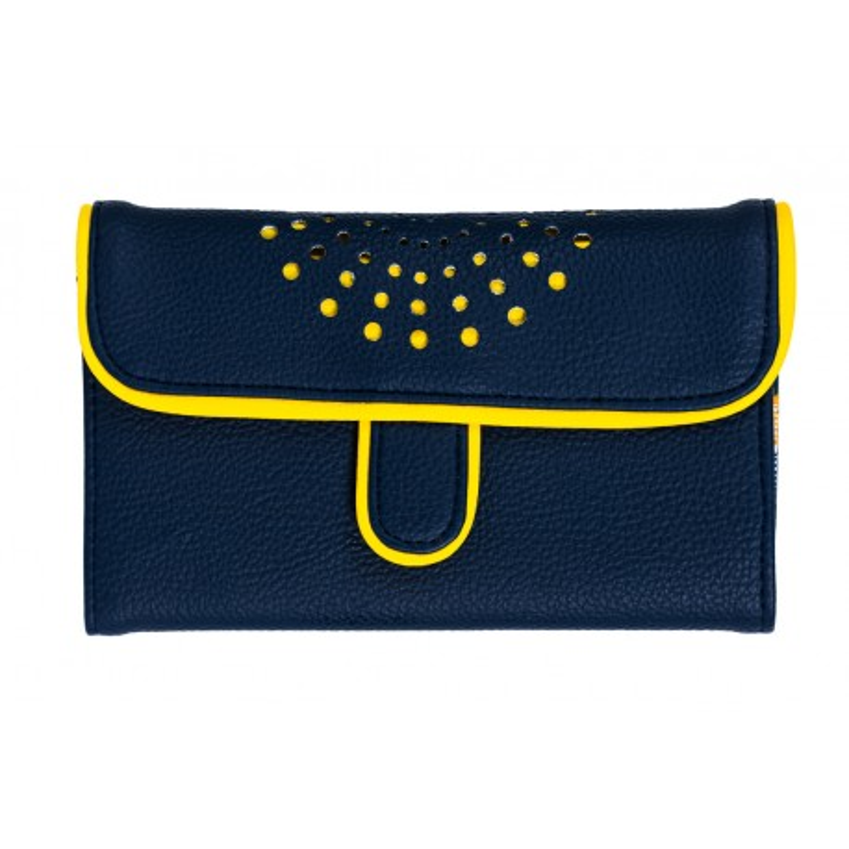 Portefeuille femme original jaune et noir