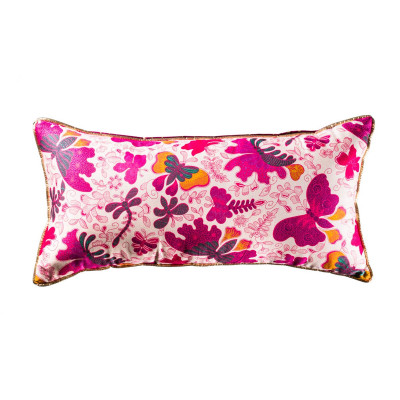 Coussin rectangle Papillons roses