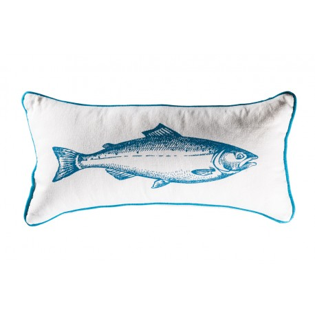 Coussin rectangle White fish