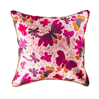 Coussin Papillons roses
