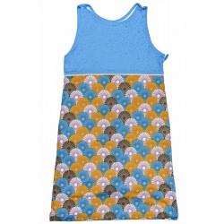 Gigoteuse été garçon 6-36 mois coton bleu et jaune