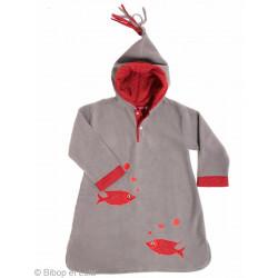 Burnou polaire Poisson rouge