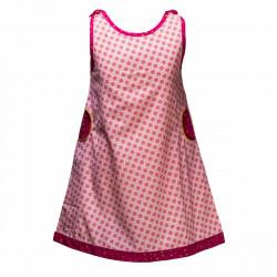 Robe été 2-8 ans coton créateur rose