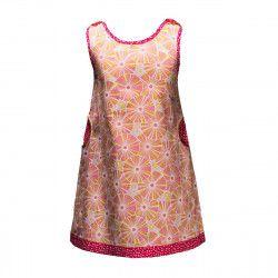 Robe été 2-8 ans coton rose