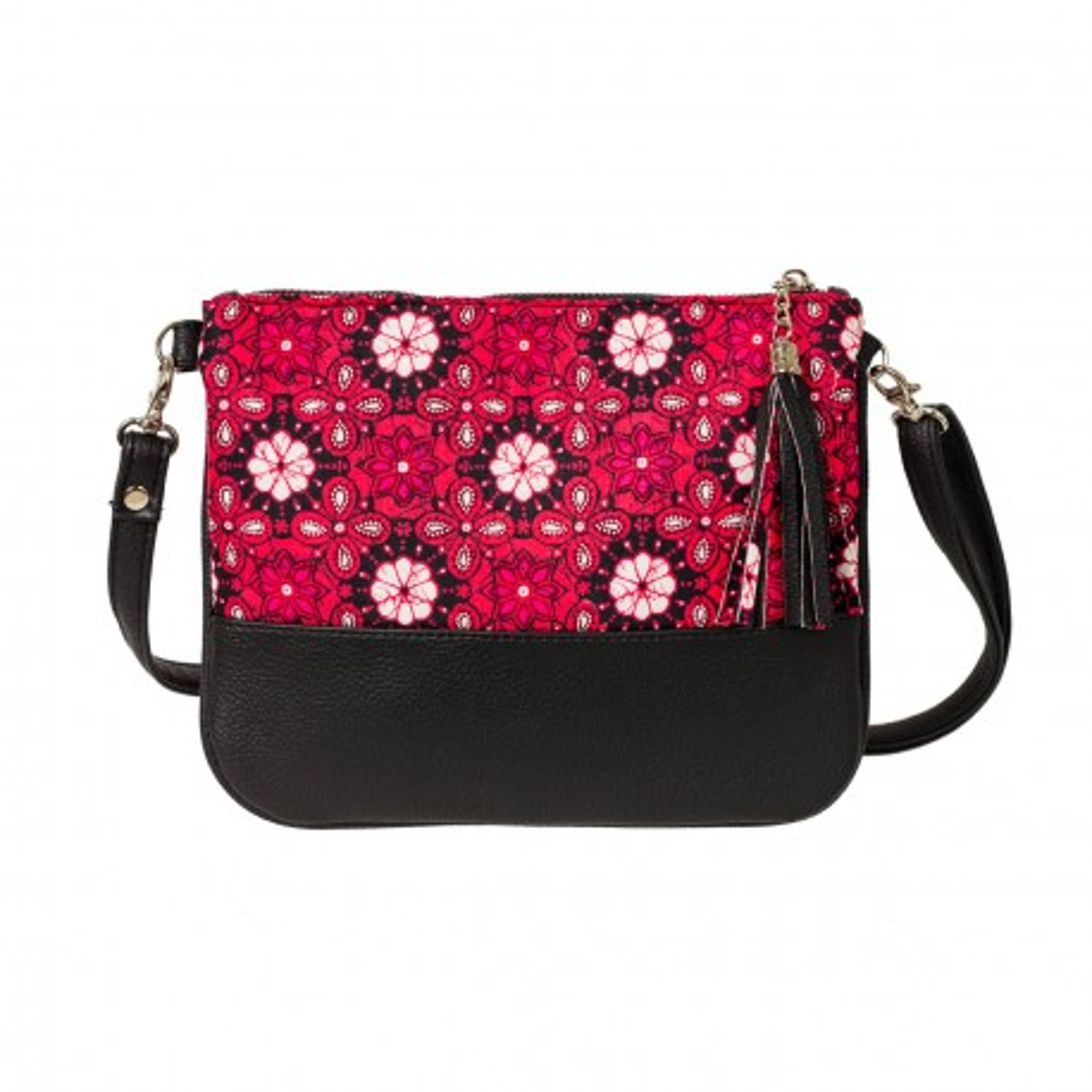 Sac pochette femme manis créateur rose et noir