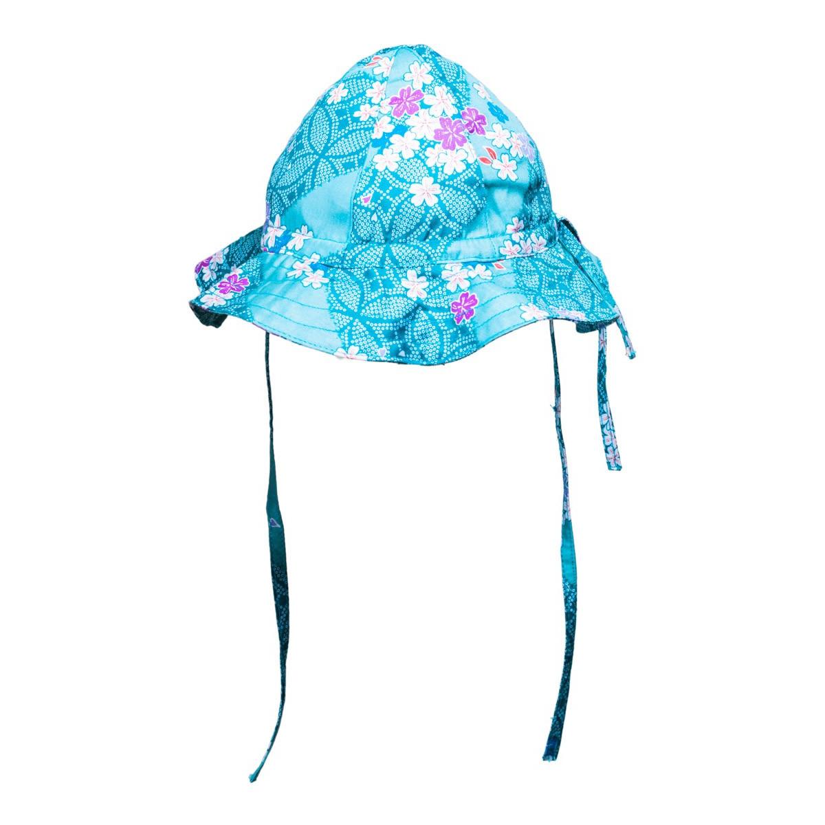 Chapeau été bébé réglable coton japonais fleurs