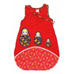 Gigoteuse fille 0-12 mois rouge créateur Matriochka/poupées russes