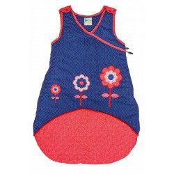 Gigoteuse hiver naissance fille 0-12 mois fleurs rouge et bleu Lily