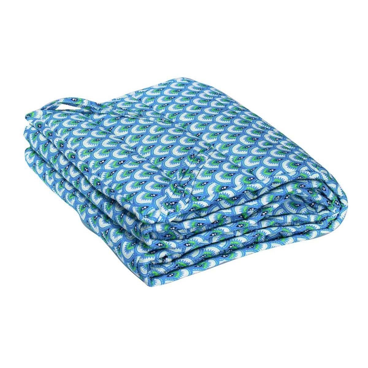 Tour de lit à barreaux bébé tissu créateur bleu