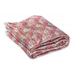 Tour de lit à barreaux bébé tissu créateur rose et or