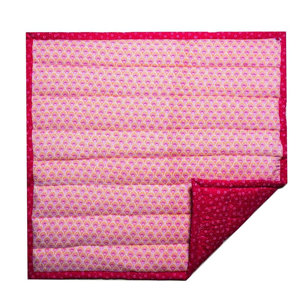 Tapis de jeux pour parc bébé coton rose