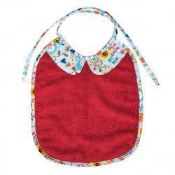 Bavoir bébé original avec col rouge