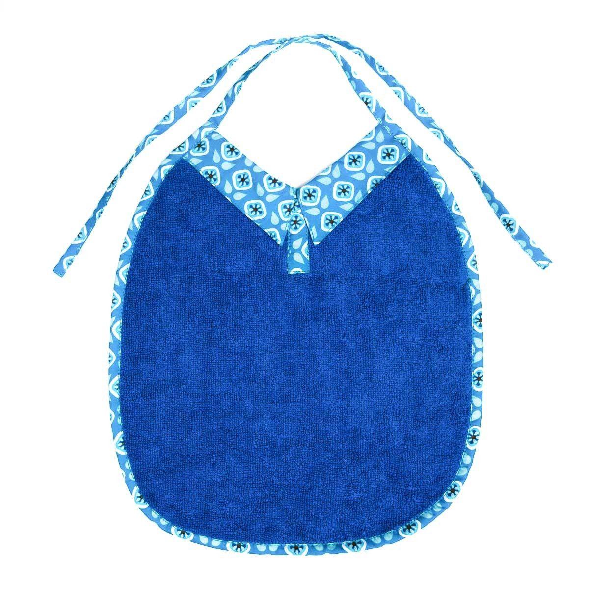 Bavoir bébé original avec col bleu