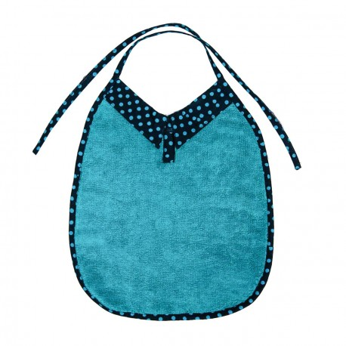 Bavoir bébé original avec col turquoise et bleu