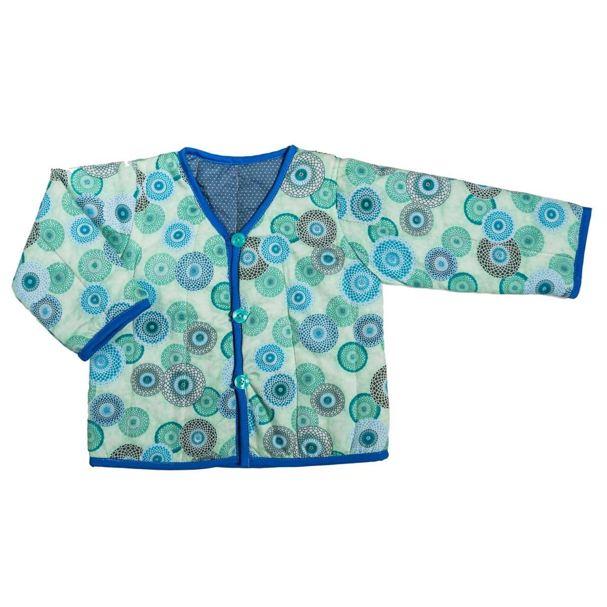 Veste bébé 0-24 mois réversible coton gris et bleu