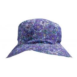 Chapeau fille 2-6 ans Lola violet fleurs