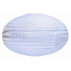 Lampion tissu ovale Dentelle