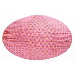 Lampion tissu ovale Pink Sunrise
