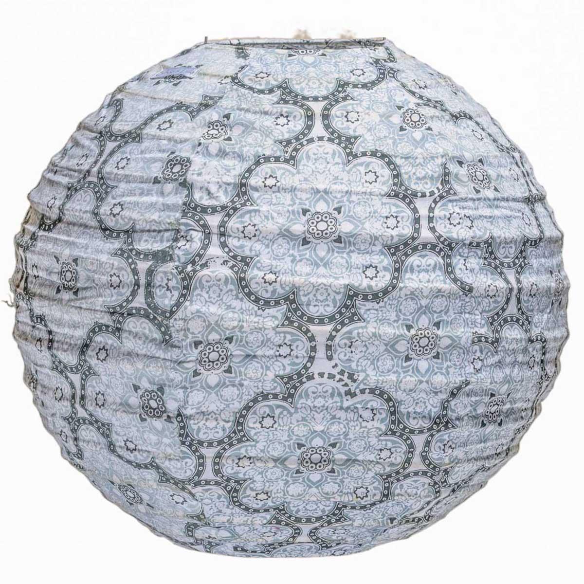 Lampion tissu rond Brume