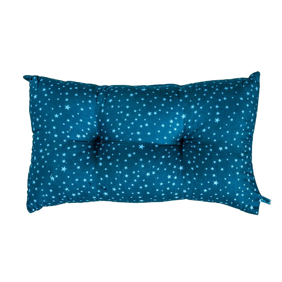 Petit coussin capitonné Blue star