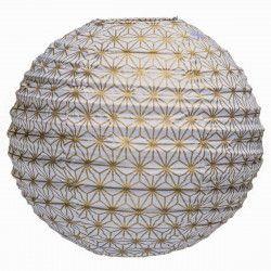 Lampion tissu rond Asanoha or