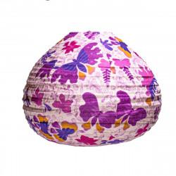 Lampion goutte Papillons violets