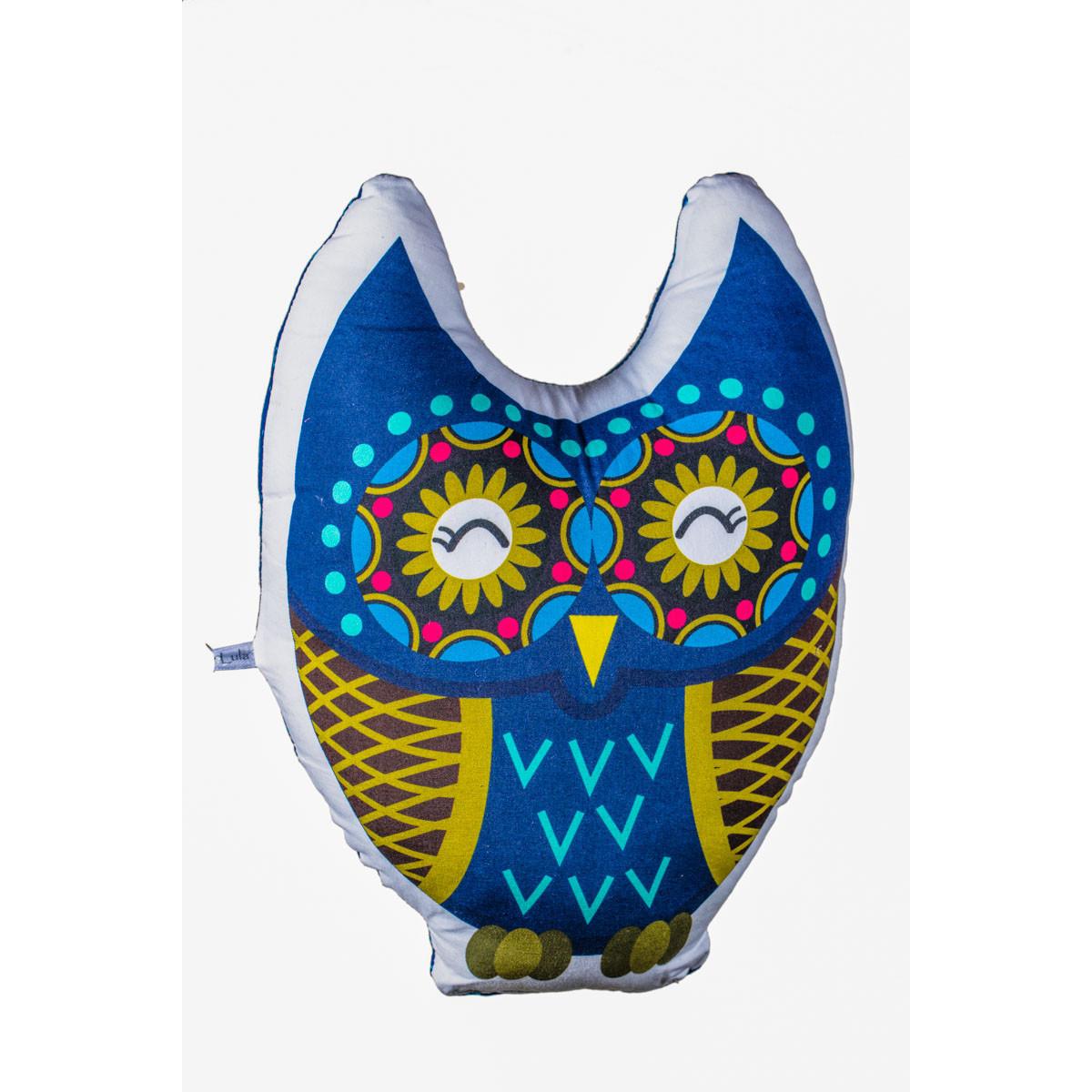 Coussin Chouette bleue