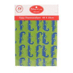 Tissu thermocollant Croco