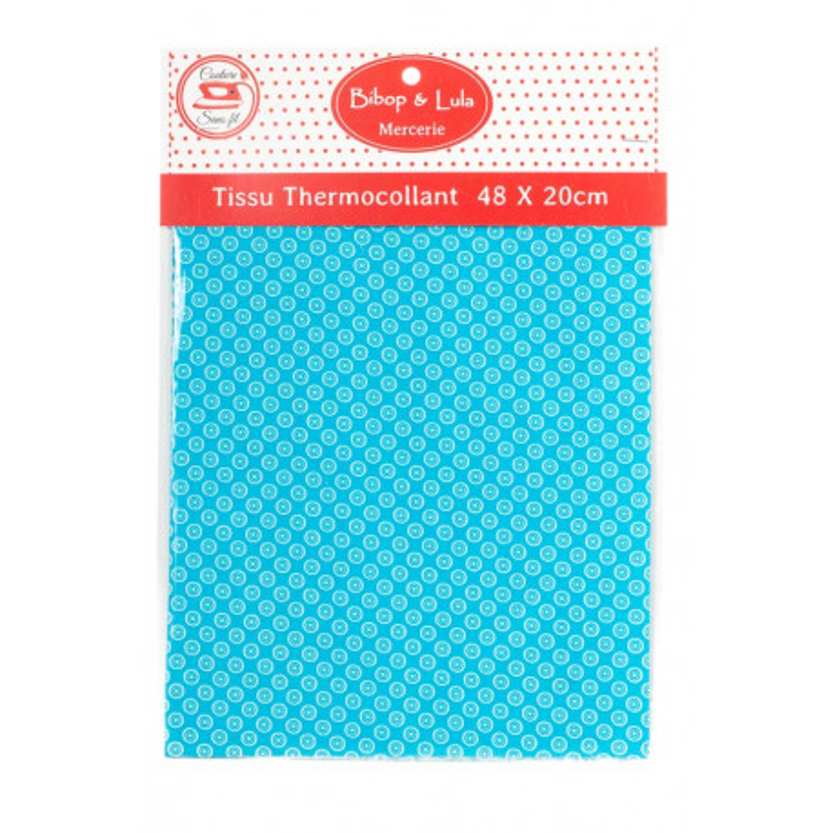 Tissu thermocollant Light blue round