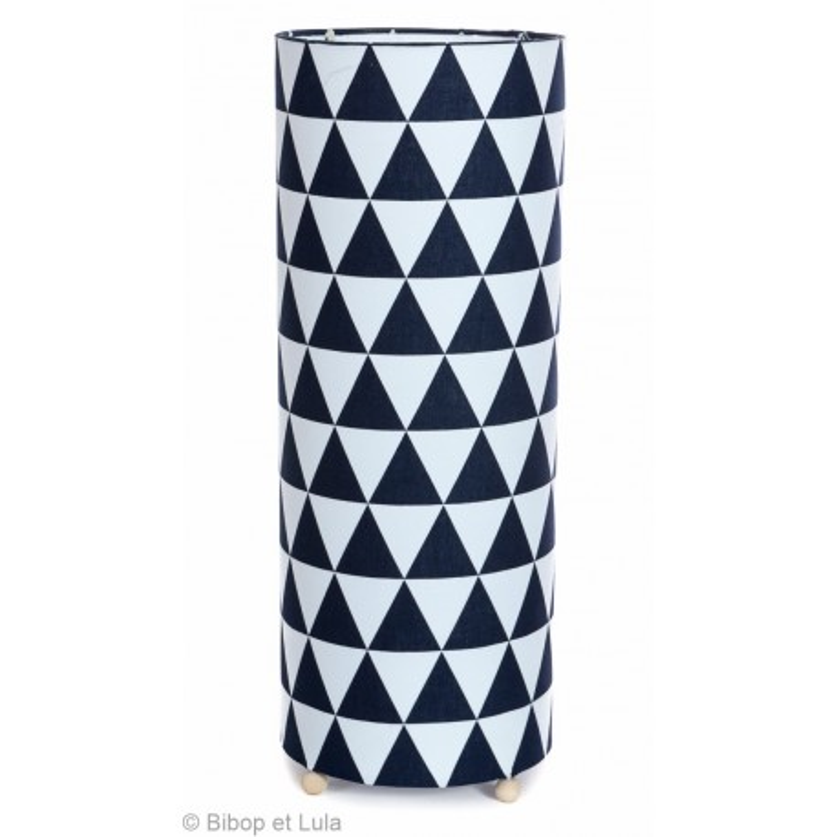 lampe tube à poser tissu noir et blanc