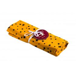 Coupon tissu Etoile jaune