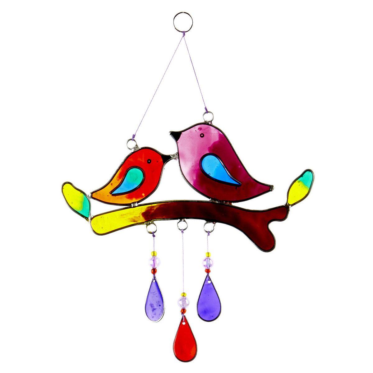 Suncatcher oiseaux sur branche