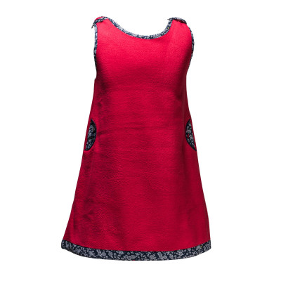 Robe polaire Becky rouge
