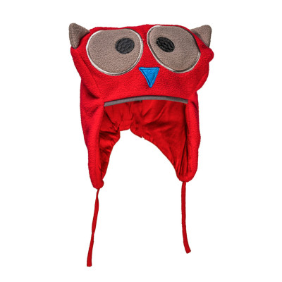 Bonnet hibou rouge