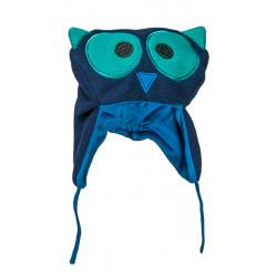 Bonnet hibou bleu