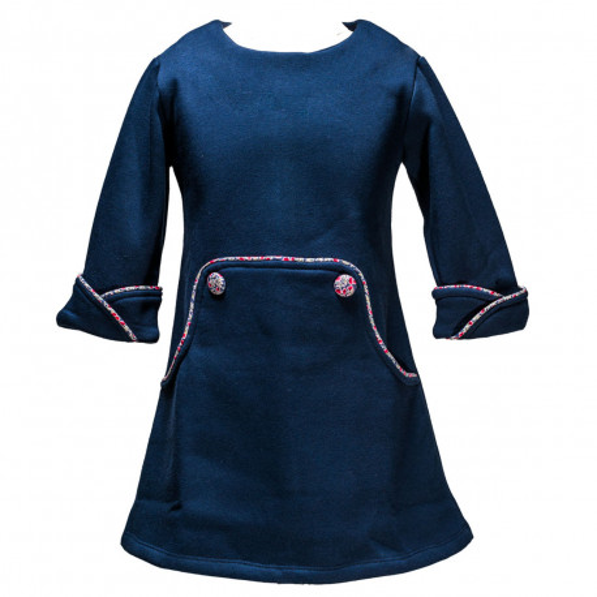 Robe hiver Louisa bleue