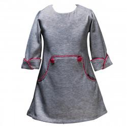 Robe hiver Louisa grise