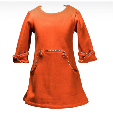 Robe hiver Louisa orange