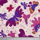 Coupon tissu Papillons violets