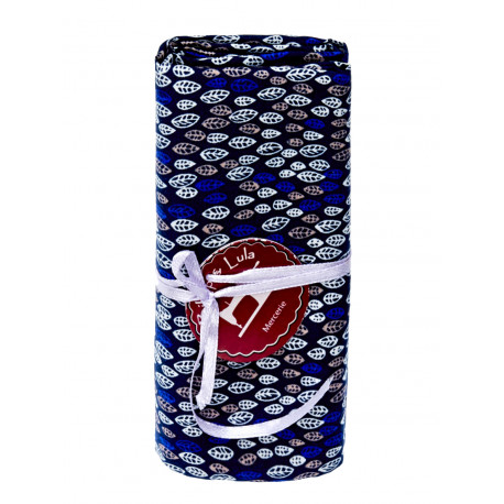 Coupon tissu Blue leaves