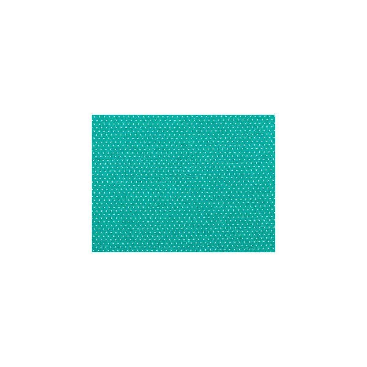 Tissu coton petit pois menthe
