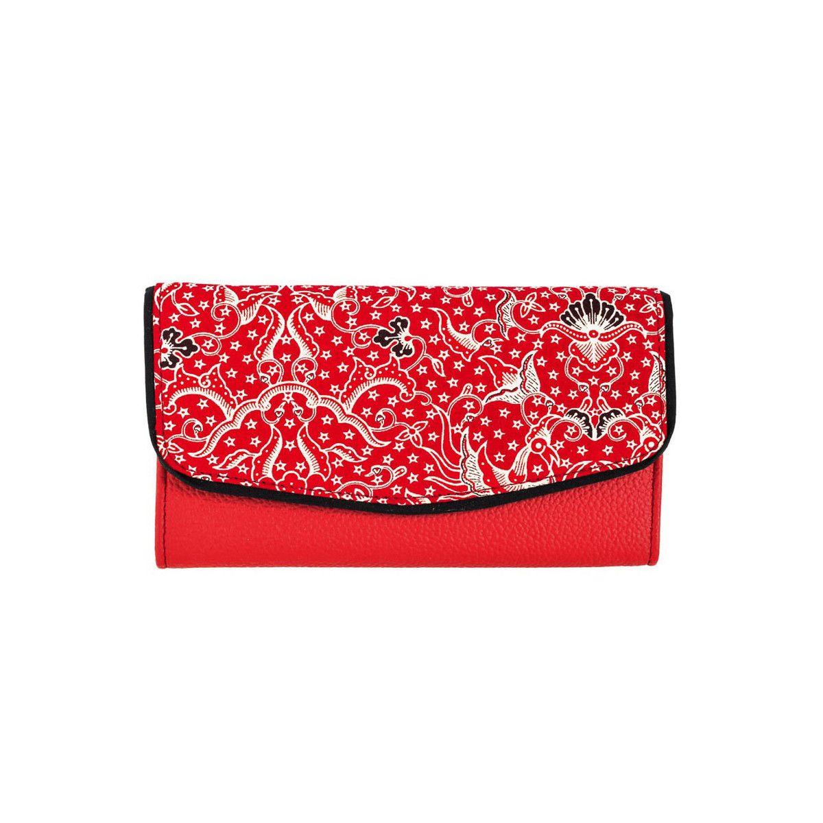 Portefeuille coton rouge