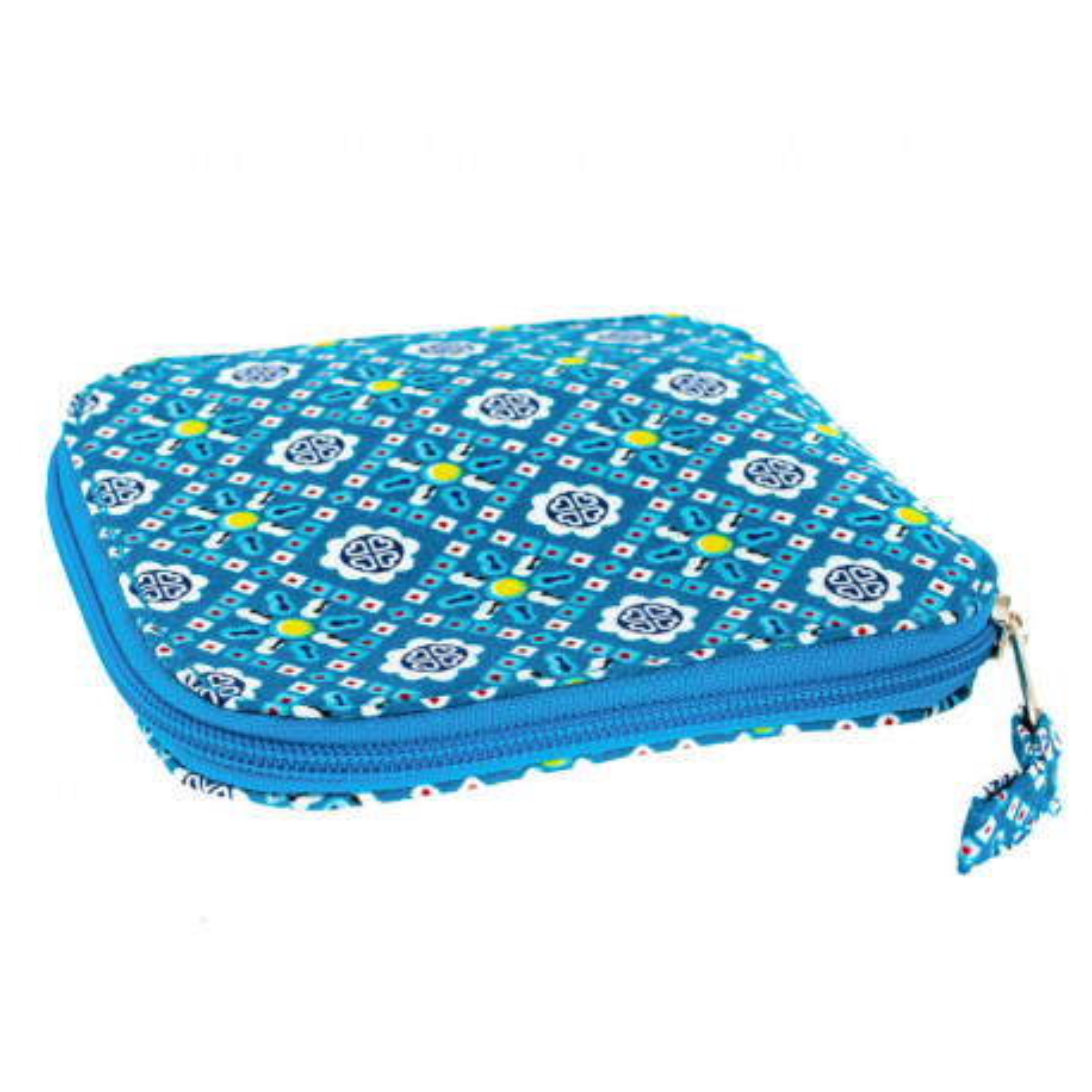 Sac de courses à provisions pliable en coton bleu et motifs originaux
