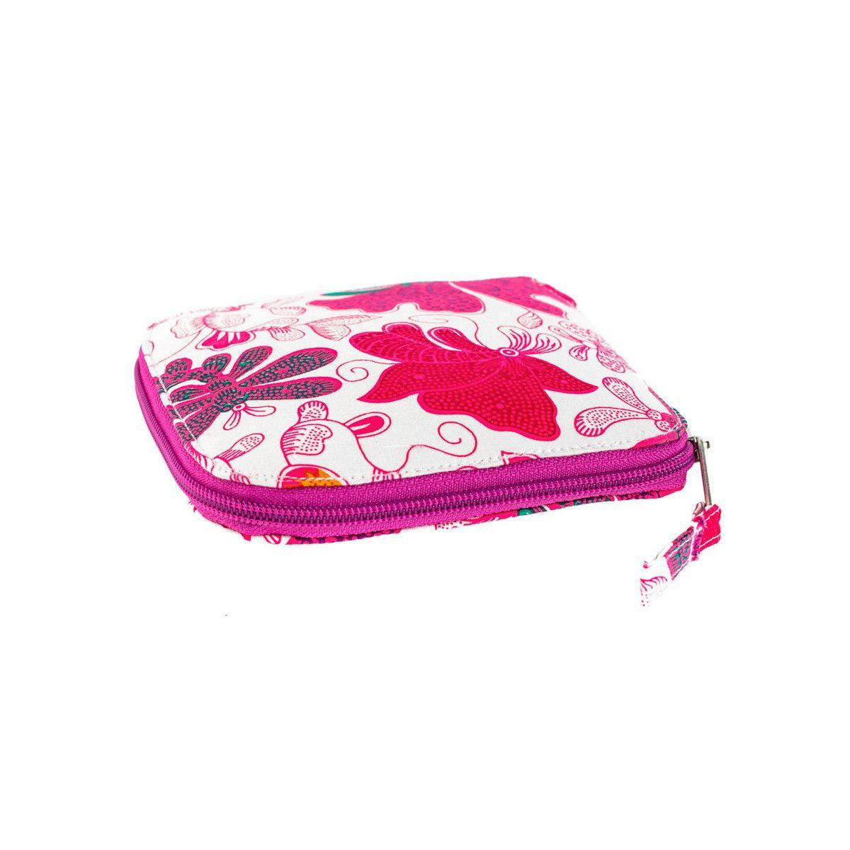 Sac de courses à provisions pliable en coton papillons roses